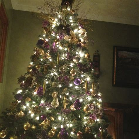 gold and purple christmas tree holiday love pinterest