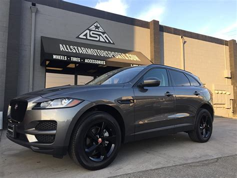 jaguar f pace blacked out jaguar f pace blackout package on black powdercoated