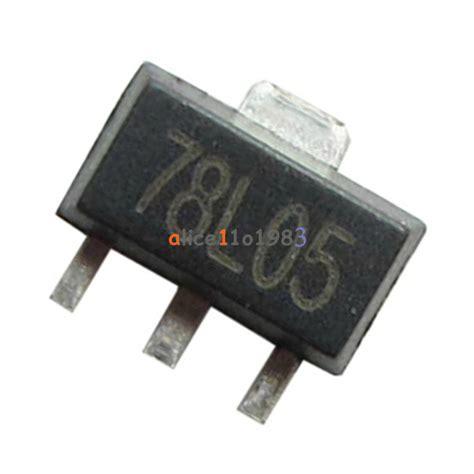 5v Regulator 7805 78m05 Smd 1 100pcs78l05 l78l05 7805 voltage regulator 5v 100ma sot 89 smd ebay