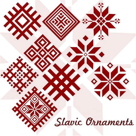 10 Slavic Ornaments Photoshop Brushes Ornament Template