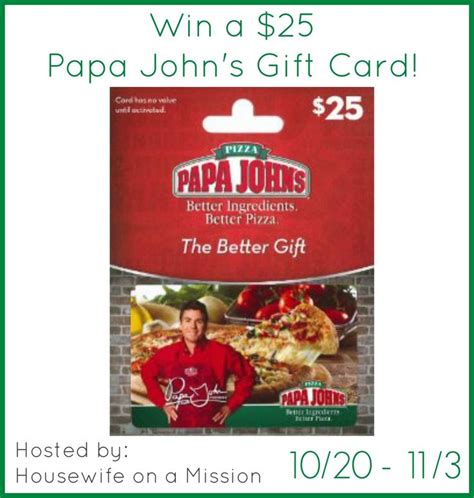 Papa Johns Giveaway - 629 best images about contests giveaways on pinterest toys strollers and gift cards