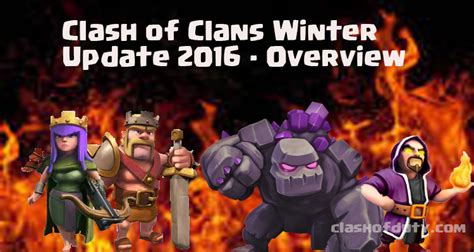 clash of duty gamers paradise tech news you can get clash of clans winter update 2016 complete details about it