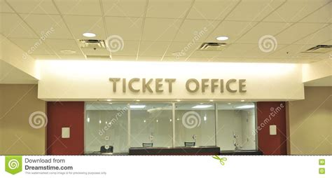 Box Office Forum by Box Office Ticket Counter Stock Photo Image 79619837