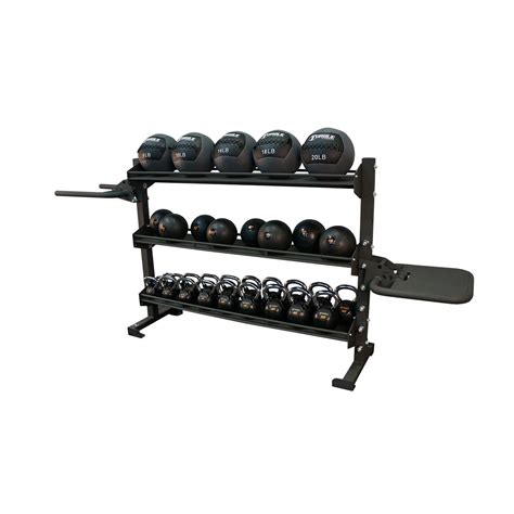 6 foot adjustable storage rack for free weights with dip