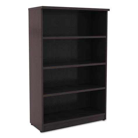 virginia 55 inch modern espresso bookcase eurway