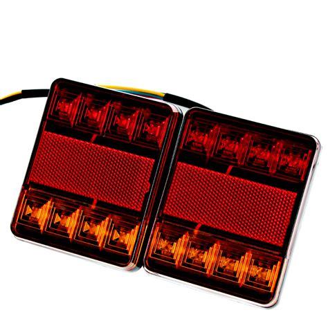 weldon led tail lights 1 pair 8 led car truck tail light warning lights rear