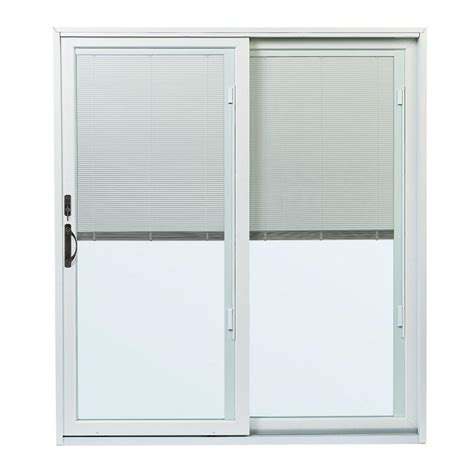 Gliding Patio Doors Andersen 70 1 2 In X 79 1 2 In 200 Series Right Perma Shield Gliding Patio Door With