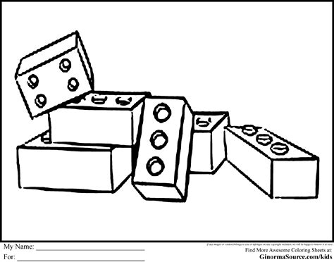 free coloring pages of lego block