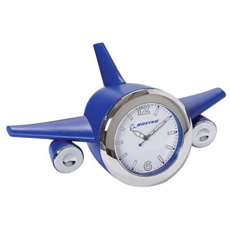 desk alarm clock boeing blue airplane desk clock
