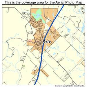 aerial photography map of kyle tx