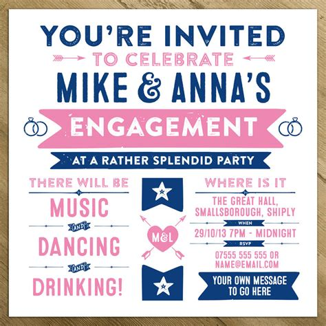 Bday Invites by Wedding Engagement Birthday Invitations By A Is