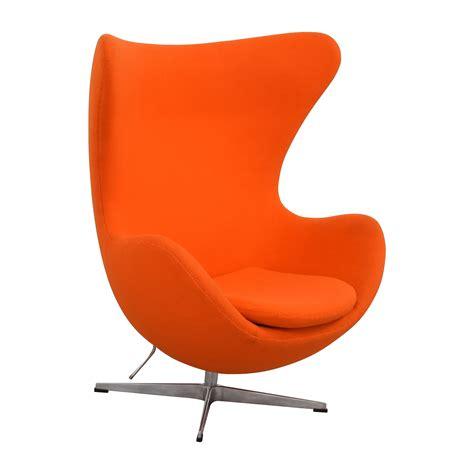 orange chair 66 off inmod inmod jacobsen orange egg chair chairs