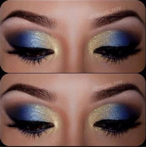 Eyeshadow Blue 12 gorgeous blue and gold eye makeup looks and tutorials