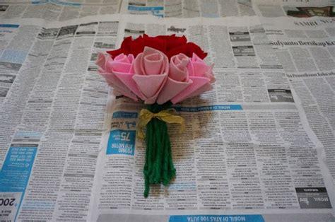 Baquet Mawar Flanel 15 Tangkai aemvede cara buat bunga mawar dari kain flanel