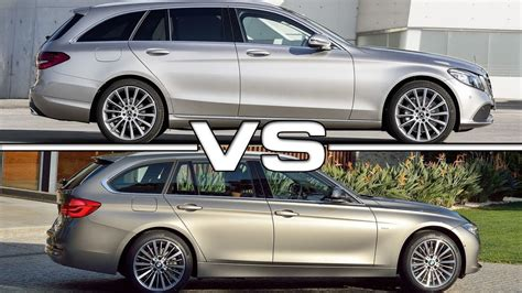 Bmw 3 Series 2019 Vs Mercedes C Class by 2019 Mercedes C Class Estate Vs 2018 Bmw 3 Series Touring