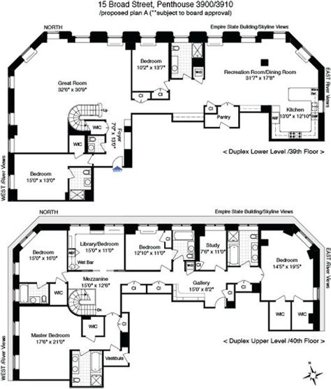 penthouse apartment floor plans 17 best images about penthouse on