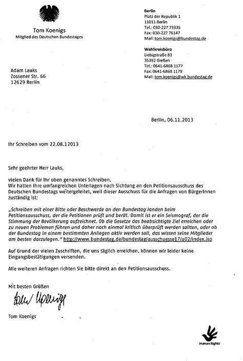 Deutsche Brief Beispiel Adam Lauks Folteropfer Der Stasi Offener Brief An Den Bundestagspr 196 Sidenten Prof Dr