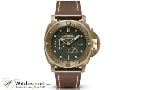 Luminor Panerai Power Reserve Silver Brown panerai luminor submersible pam00507 s bronze automatic with power reserve 3 days