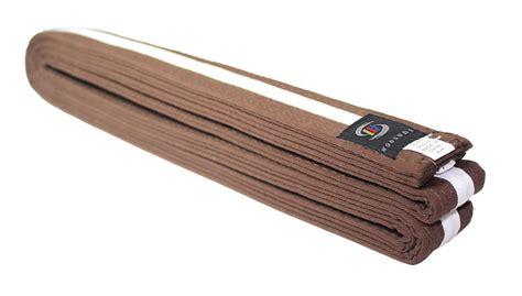 brown white 2nd kyu karate belts