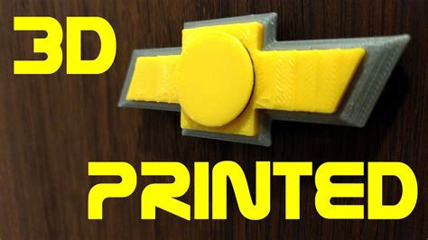 logo chevrolet 3d chevy logo fidget spinner 3d printed