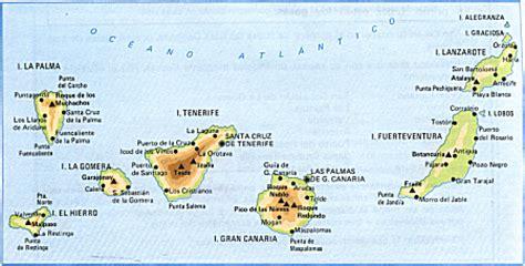 canarias y africa mapa islas canarias mapa