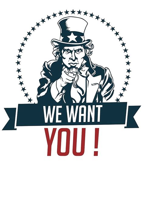 Plakat We Want You by Quot Sam Quot We Want You Quot Text Quot By Calinvr Redbubble
