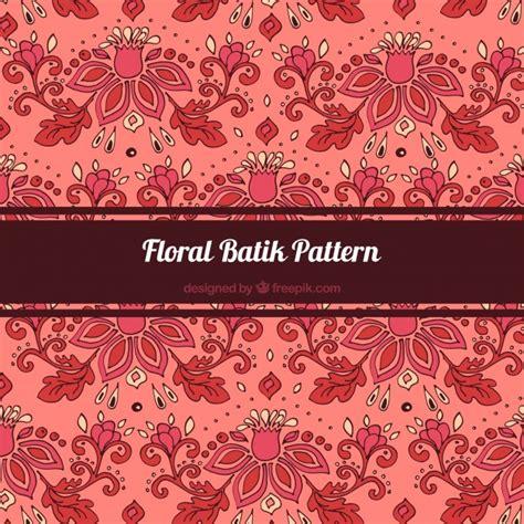 pattern batik elegant elegant pattern of hand drawn batik flowers vector free
