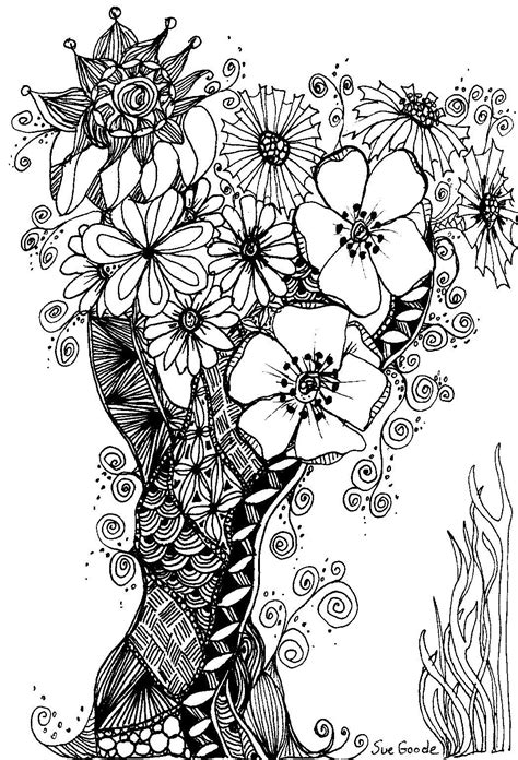 how to draw zentangle flowers google search art dream catcher tree of life coloring google search
