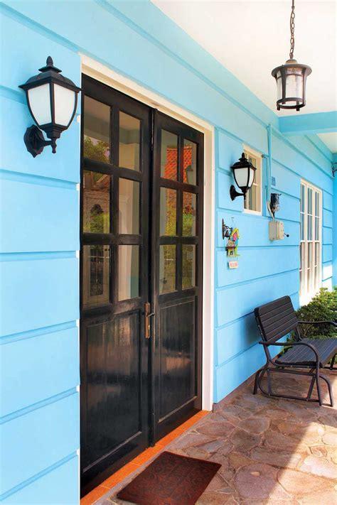 cat rumah warna biru turquoise deco desain rumah