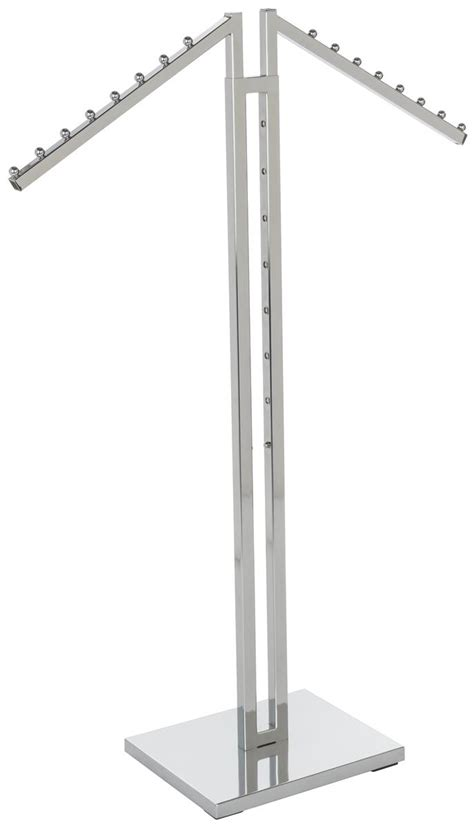 chrome clothes rack chrome waterfall clothing rack height adjustable arms