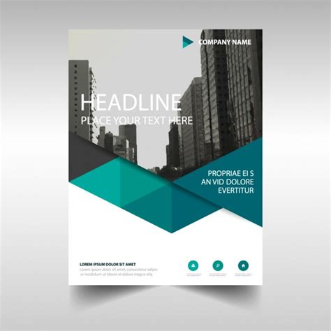 corporate brochure template free polygonal corporate brochure template vector free