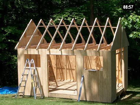 building  garden shed