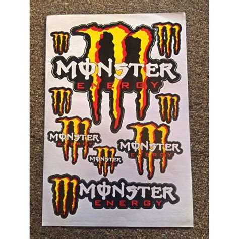 Monster Energy Sticker Auto by Stickers Monster Energy Pas Cher Ou D Occasion Sur