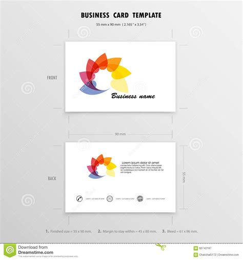 business card sle template abstract creative business cards design template name