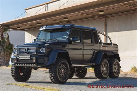 mercedes jeep 6 wheels tuningcars weistec engineering mercedes g63 amg 6 215 6