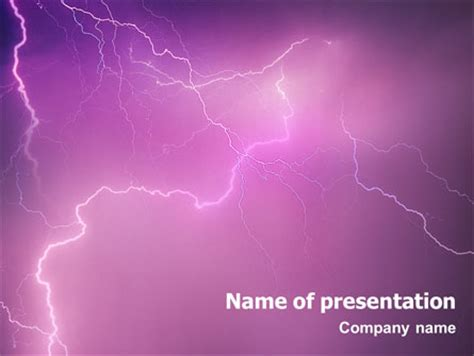 powerpoint templates lightning free lightning powerpoint template backgrounds 01647