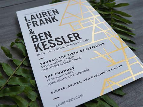 black white and gold wedding invitations modern black white and gold foil wedding invitations