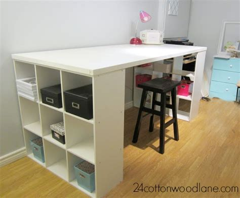 diy craft room table cottonwood designs