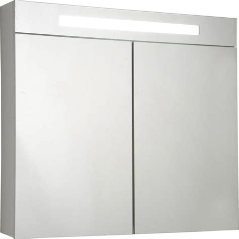 Armoire De Toilette Ikea 2842 by Armoire De Toilette Lumineuse Blanc L 80 Cm Sensea Telio