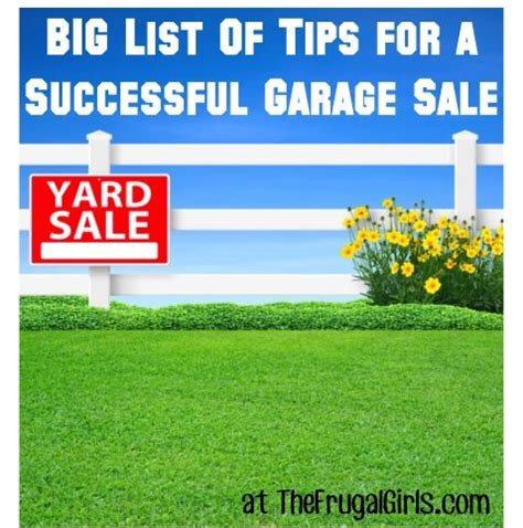 Tips For A Successful Garage Sale by Garage Creative Ideas And Tips On