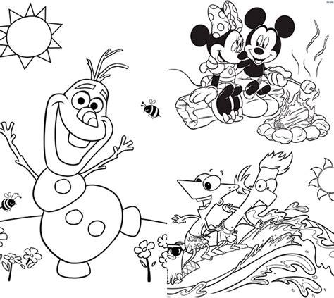 dibujos navideños para colorear disney 25 dibujos para colorear sobre el verano pequeocio