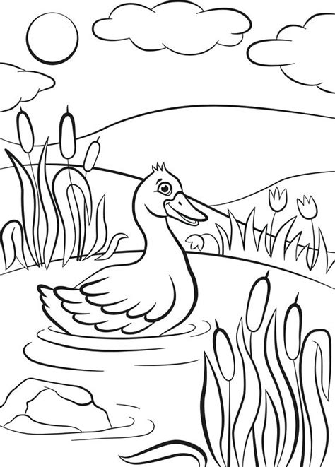 duck life coloring pages print coloring