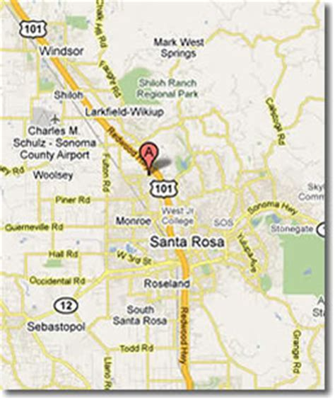 where is santa rosa california on the map of california santa rosa images