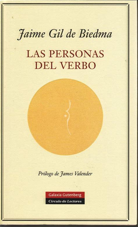 jaime gil de biedma las personas del verbo books worth reading