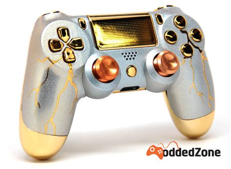mod game controllers quot gold thunder quot ps4 modded controller moddedzone