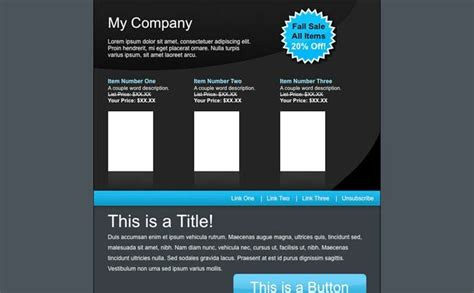 Email Is Not Dead 33 Free Newsletter Templates For Daily Use Noupe Aweber Newsletter Templates