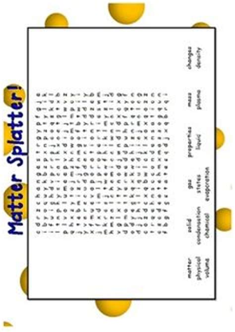 printable word search on matter science on pinterest states of matter life cycles and
