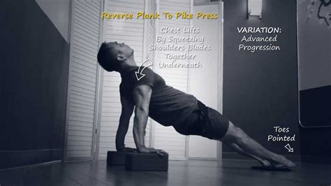 power yoga tutorial video power yoga exercise tutorial reverse plank to pike press
