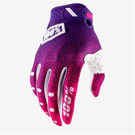 100 motocross gloves 2018 100 ridefit motocross mx gloves pink purple