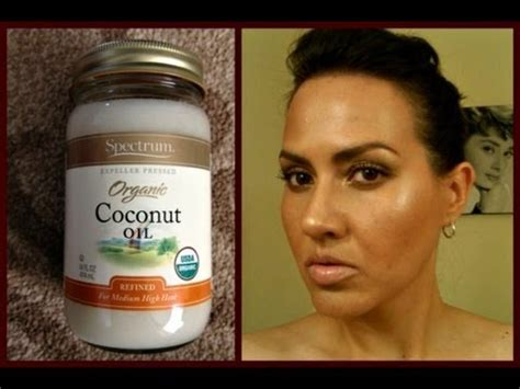 coconut oil on face before bed beauty benefits of organic coconut oil for skin hair youtube